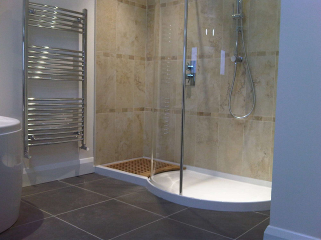 Elegant Shower and grand Electric Towel Warmer